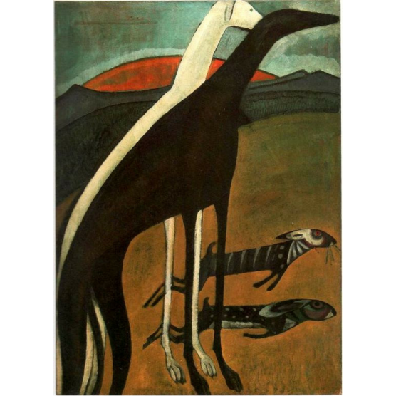 Pocztówka Sighthounds in Art No. 3